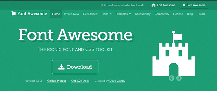 Webフォントとして「FontAwsome」を使う方法